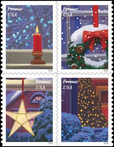 boring Christmas stamps